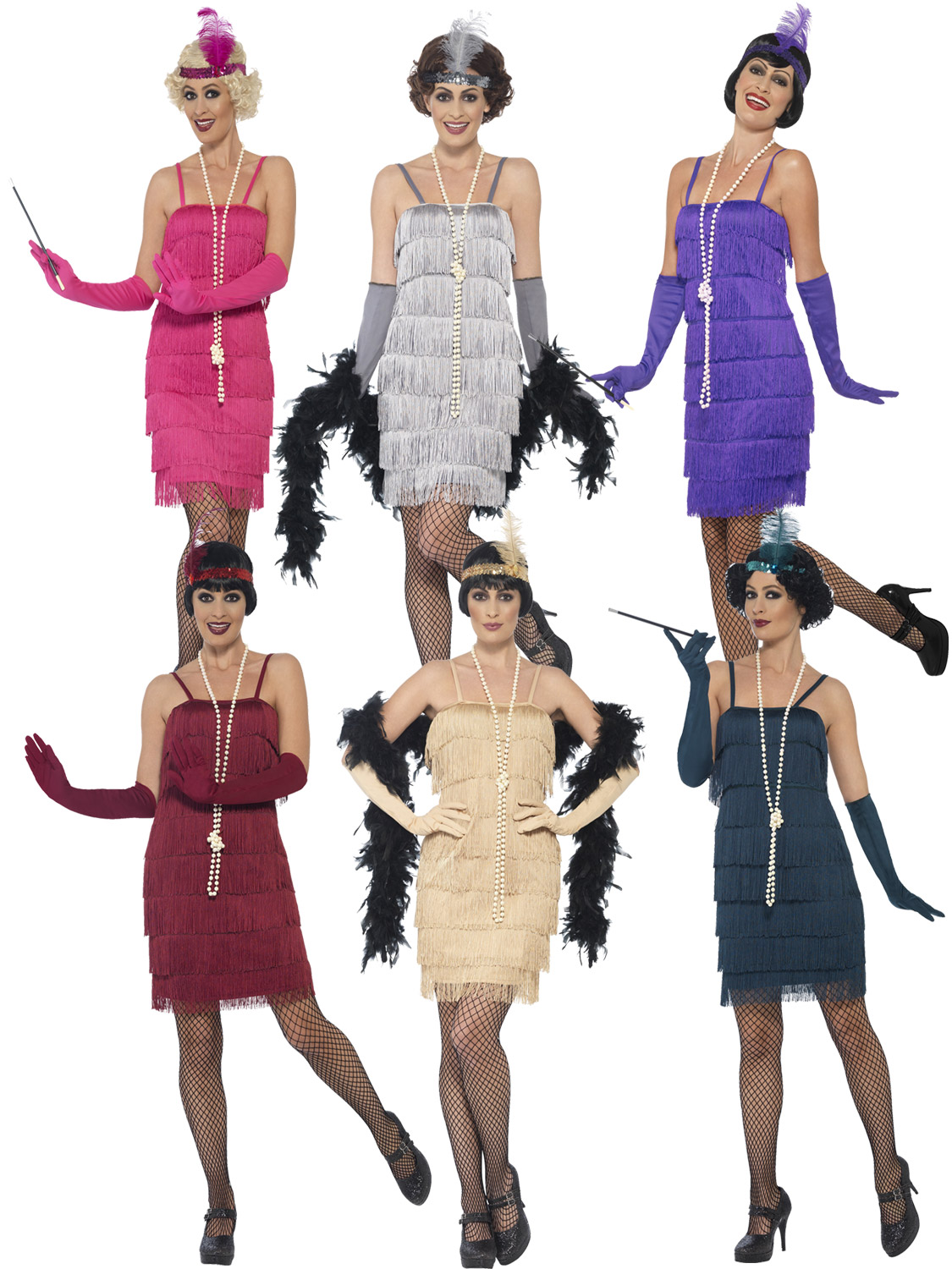 Details About Las Charleston Fler Costume S 1920s Gatsby Fancy Dress Womens Outfit