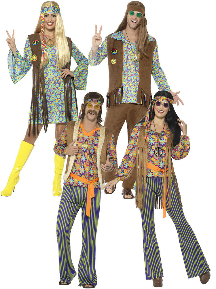 Adults 60s Hippie Costume