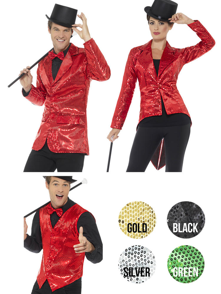 Adults Sequin Waistcoat / Tailcoat / Jacket
