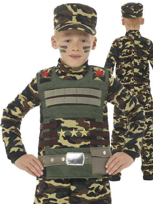 Boy's Camouflage Military Boy Costume