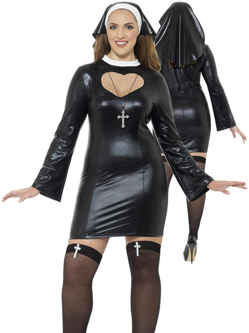 Ladies Curves Nun Costume