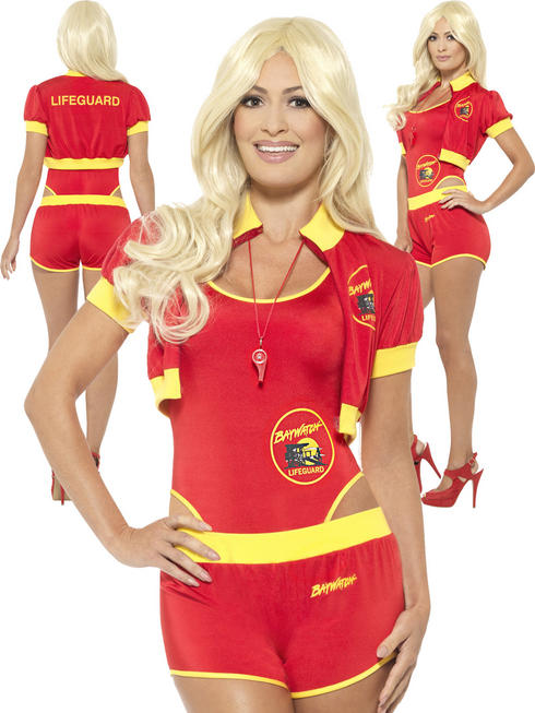 Ladies Deluxe Baywatch Lifeguard Costume