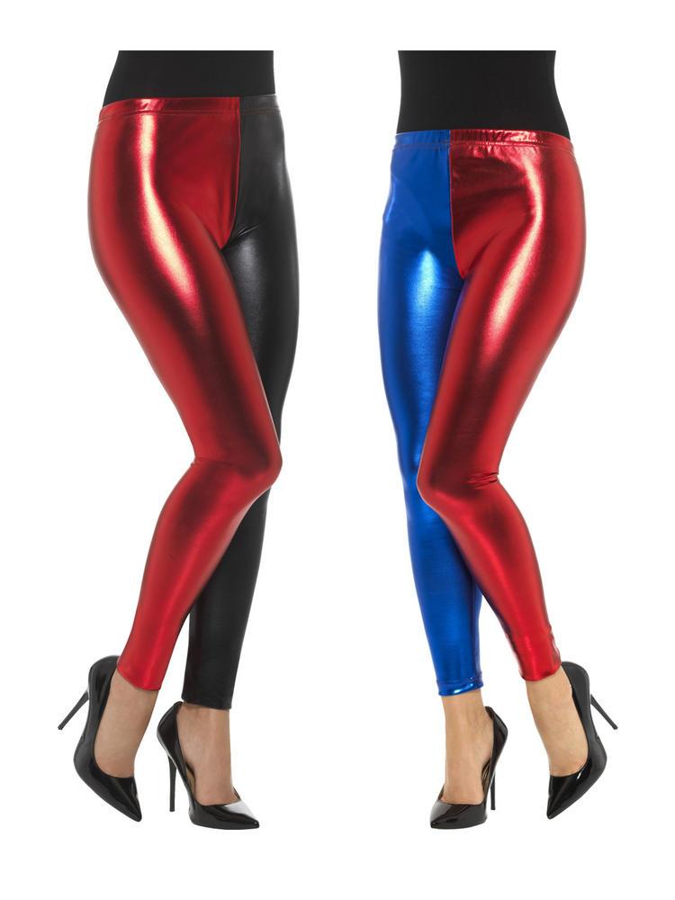 Ladies Harlequin Cosplay Metallic Leggings