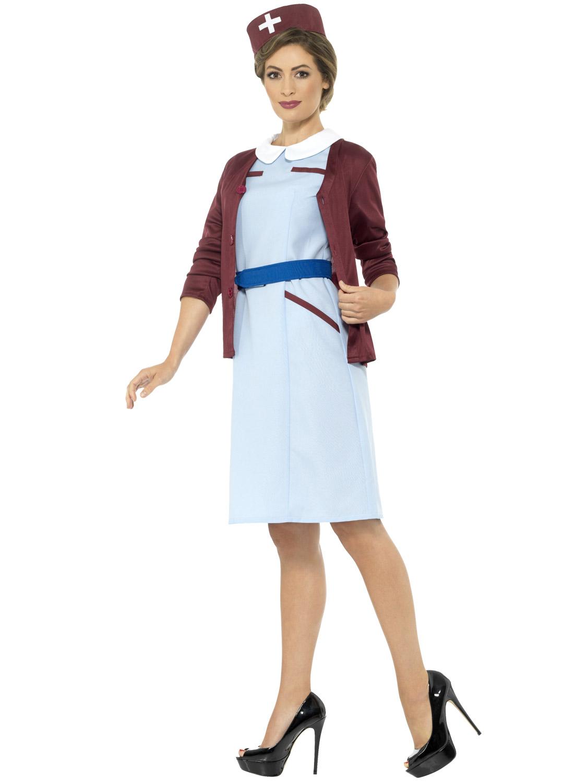 Ladies Vintage Nurse Costume Midwife Uniform Fancy Dress ... - photo #17