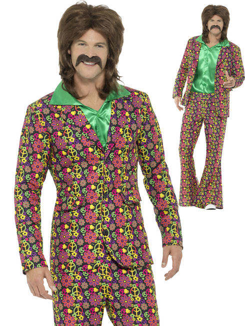 Men's 60s Psychedelic CND Suit