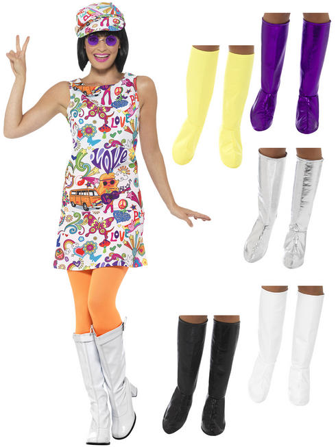 Ladies Groovy Chick Costume & GoGo Boots