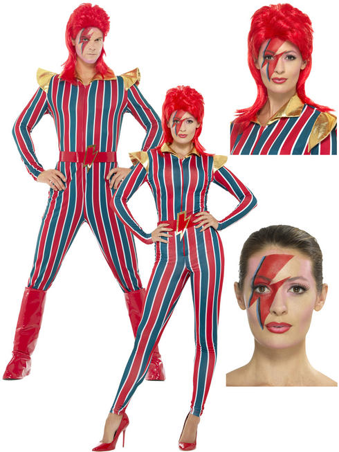 Adults Space Superstar Costume & / or Makeup Kit & Wig