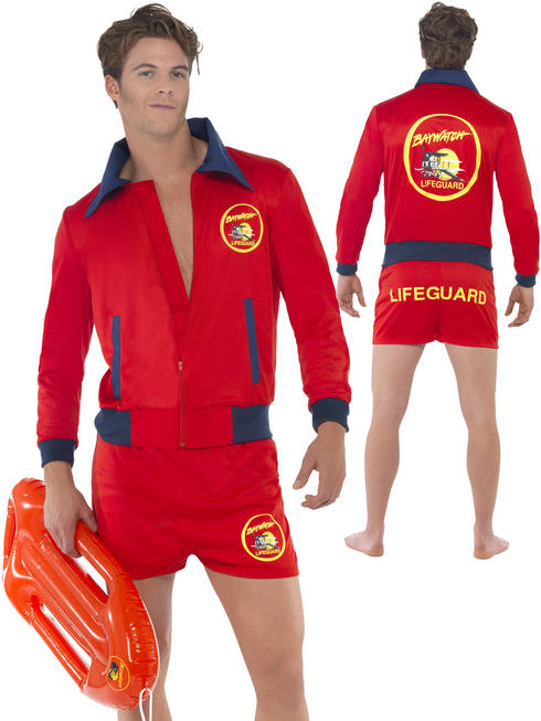 Men's Deluxe Baywatch Costume