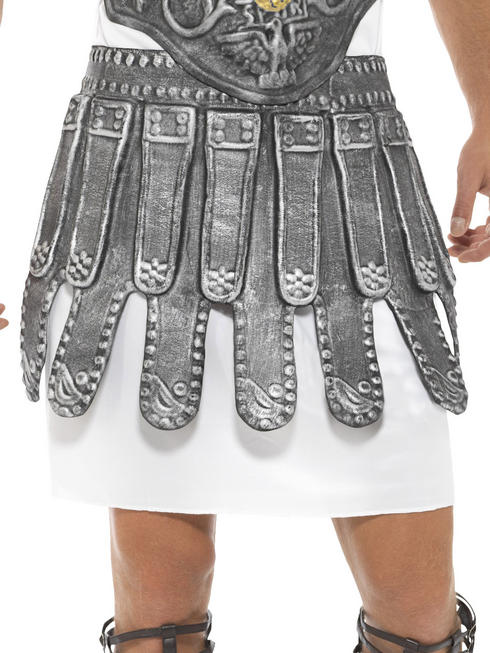Mens Roman Warrior Armour Breastplate Skirt Gladiator Fancy Dress Accessory