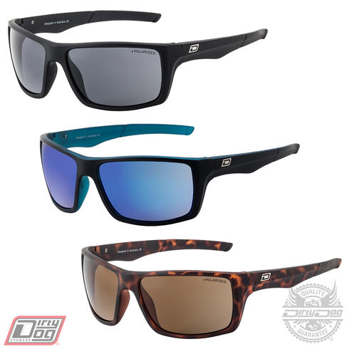 Dirty Dog Primp Sunglasses Black Tortoiseshell Polarised Mens Ladies Sun Shade