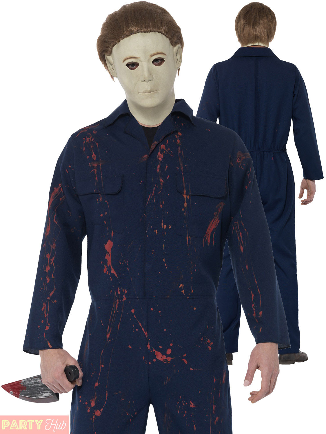 mens michael myers costume adults halloween fancy dress horror film movie outfit picture 2 of 3