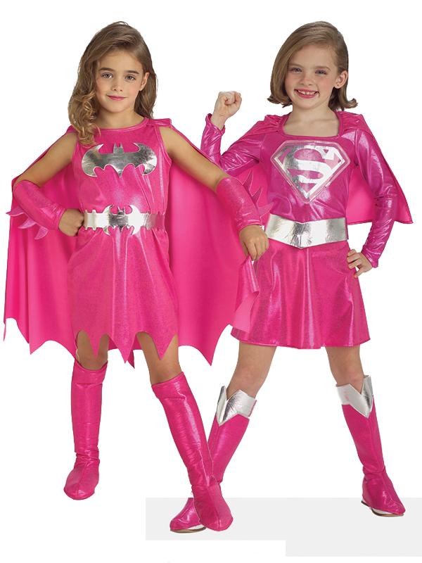 Pink Batgirl Supergirl Girl Superhero Fancy Dress Kids Toddler Costume Halloween. Image 2  sc 1 st  eBay & Pink Batgirl Supergirl Girl Superhero Fancy Dress Kids Toddler ...