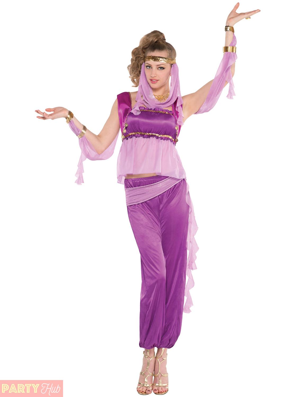 Ladies-Arabian-Princess-Costume-Adults-Jasmine-Fancy-Dress-  sc 1 st  eBay & Ladies Arabian Princess Costume Adults Jasmine Fancy Dress Womens ...