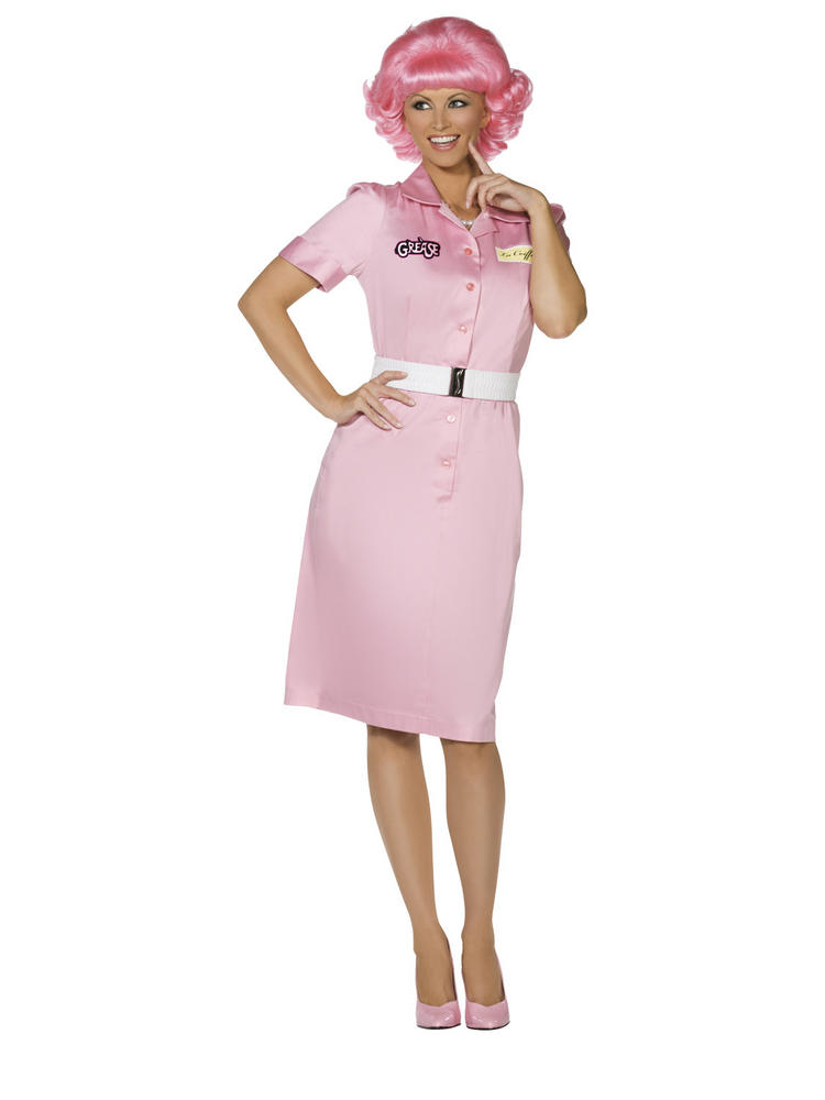 Ladies Grease Frenchy Beauty School Drop Out Costume