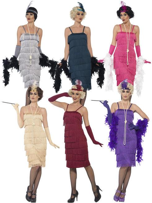 Ladies Long Flapper Costume