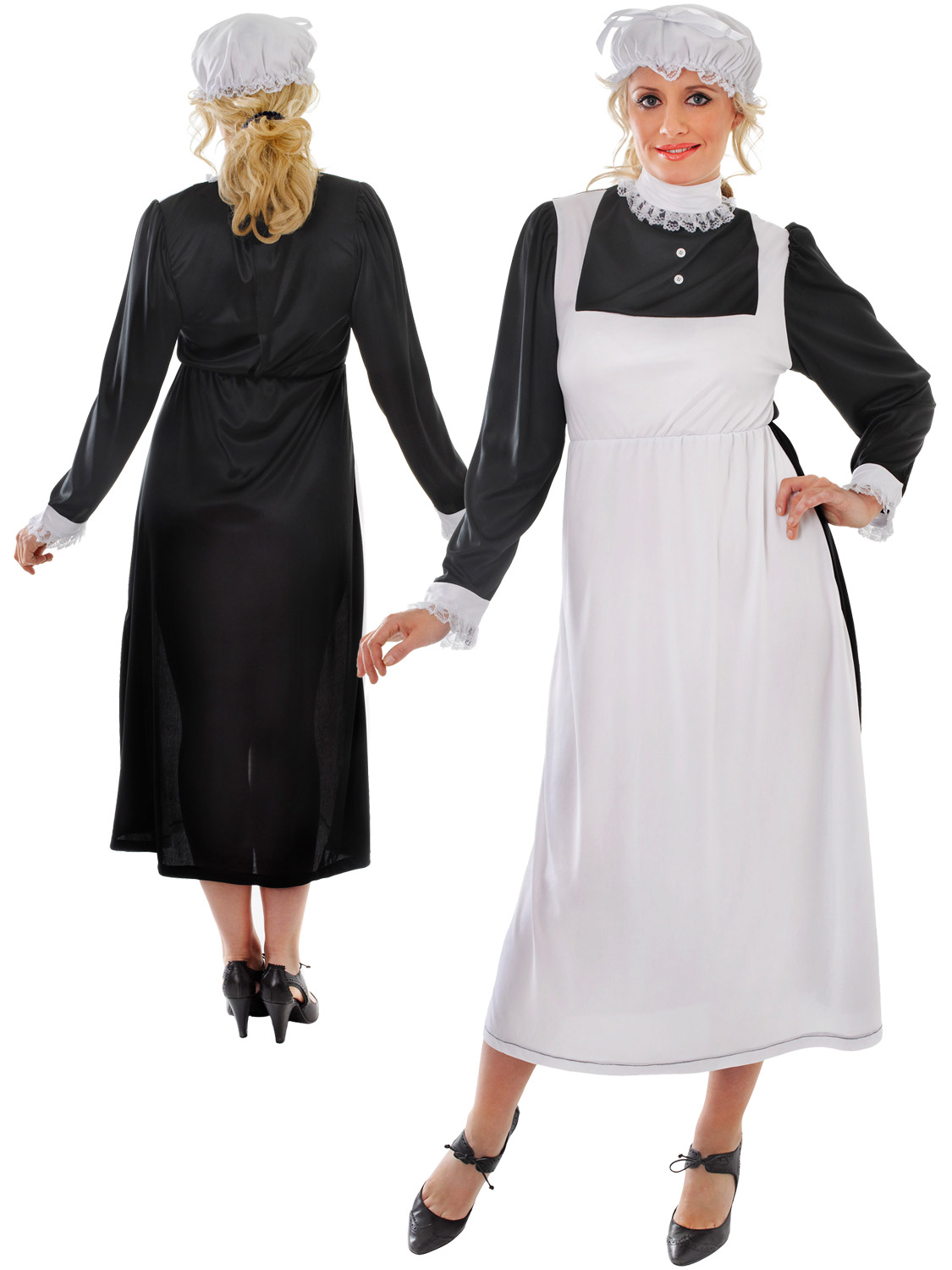 This Victorian Maid costume will make you look like you have stepped out of the Victorian Era.. Ideal for Book Week or a themed party.  sc 1 st  eBay & Ladies Victorian Maid Costume Adults Florence Nightingale Fancy ...