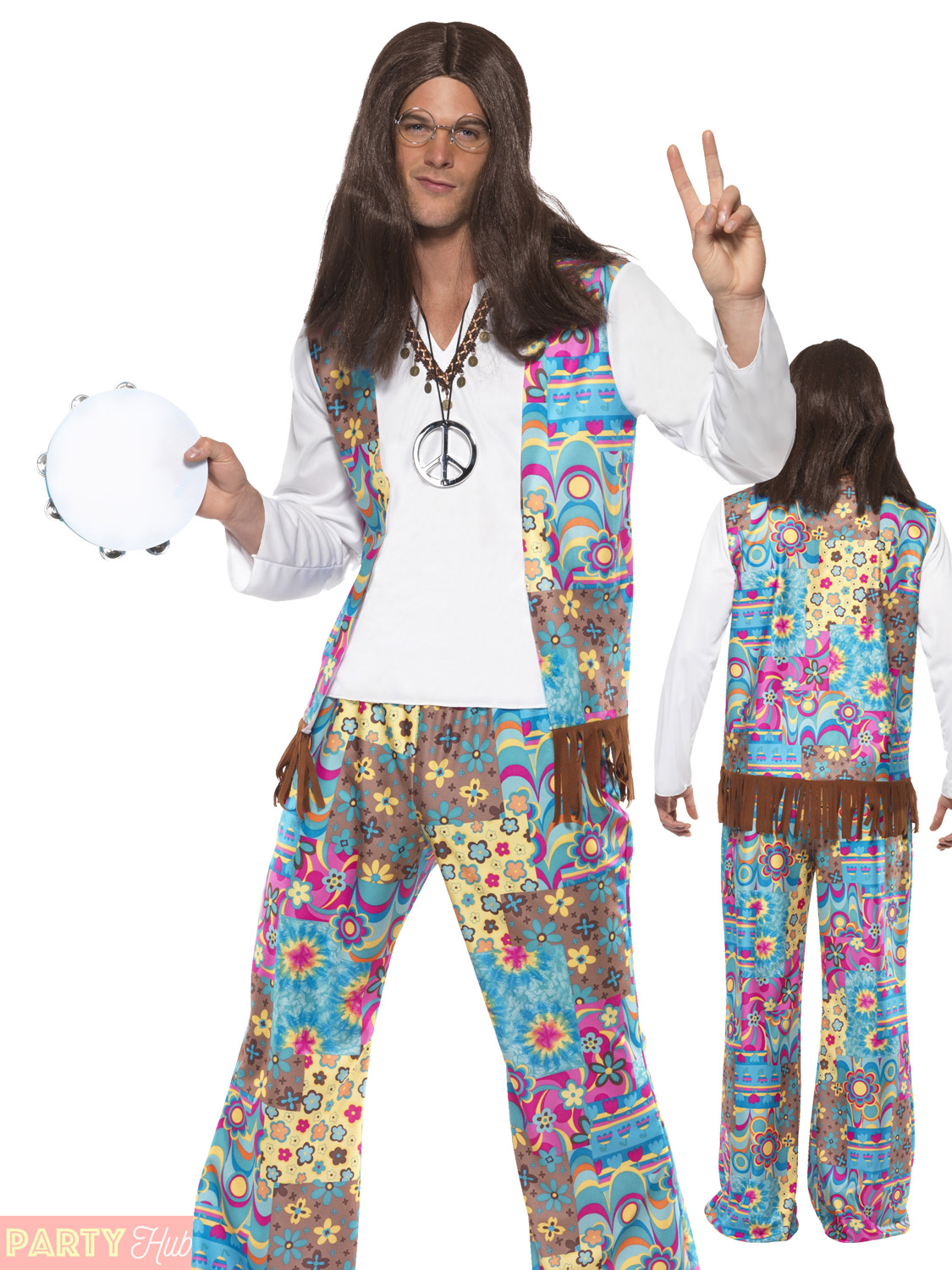 Adults 1960s 1970s Groovy Hippie Costume Mens Ladies Hippy ...
