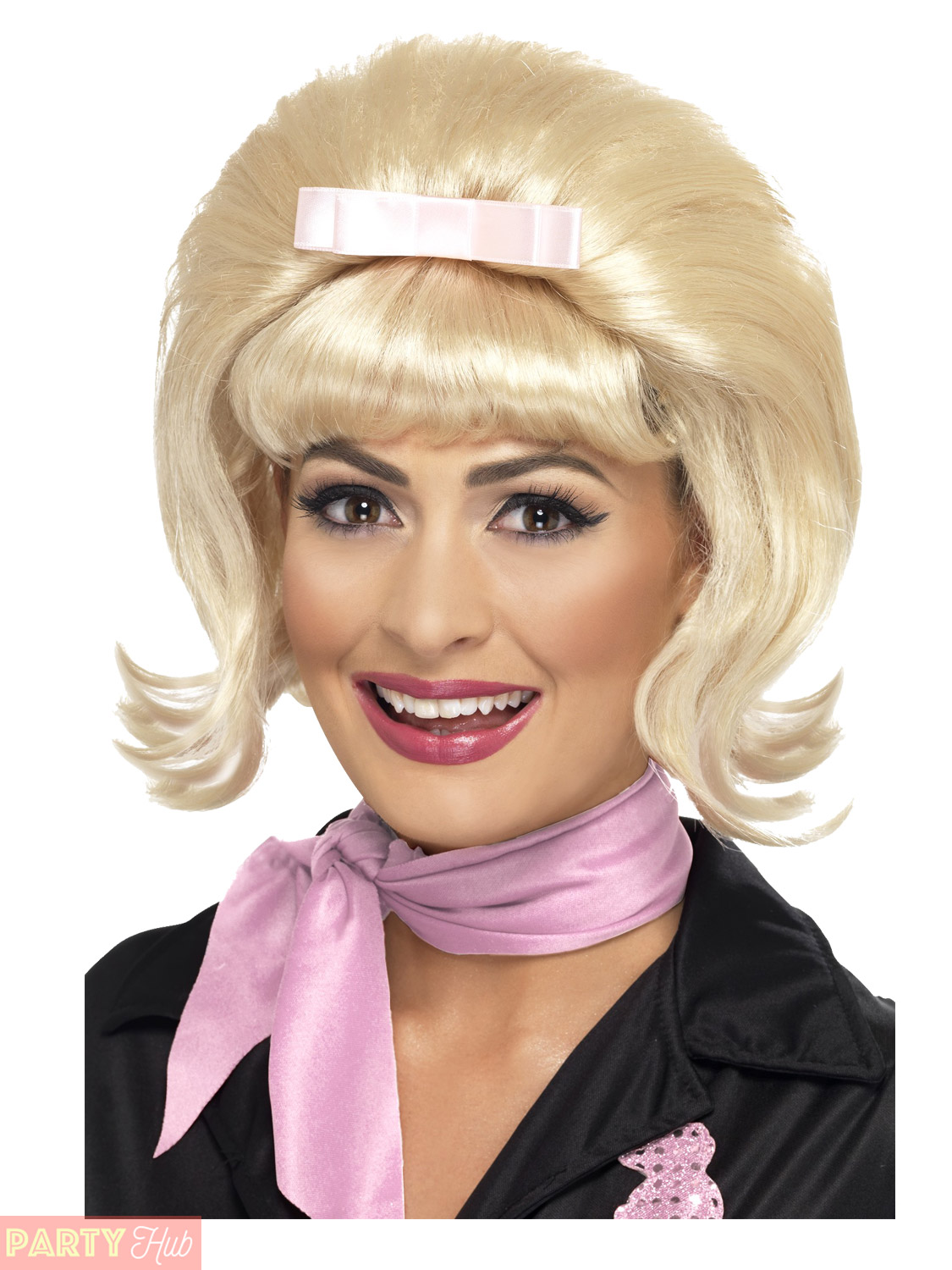 ladies frenchy grease wig adults 1950s beehive bob fancy dress diner accessory ebay. Black Bedroom Furniture Sets. Home Design Ideas