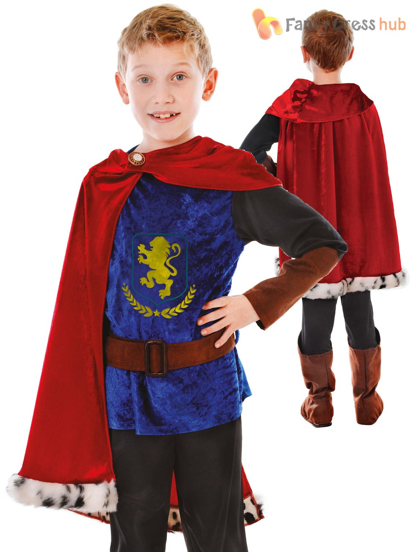 Boys Fantasy Prince Costume Child Royal Knight Fancy Dress King ...