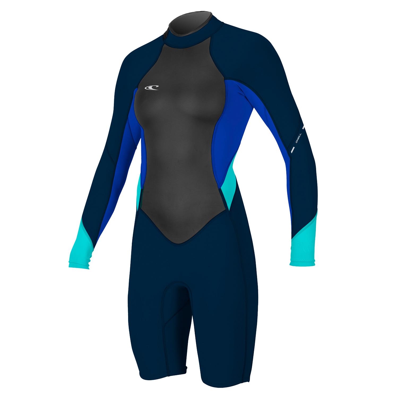dc198e0cd7 O Neill Womens Shortie Wetsuit Bahia Long Sleeve Ladies Beach Kayak ...