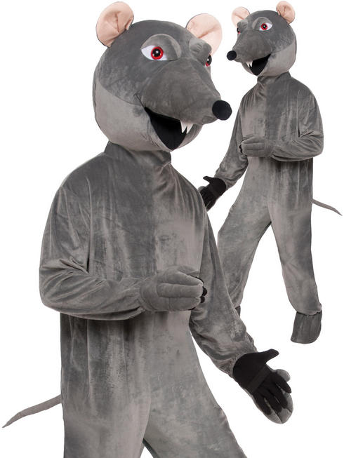 Adults Rat Big Head Costume - Standard