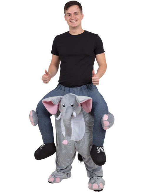 Adult's Elephant Piggy Back Costume