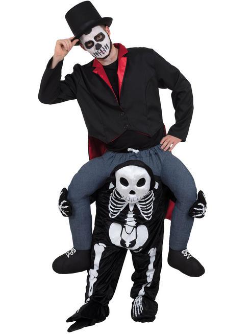 Adult's Skeleton Piggy Back Costume