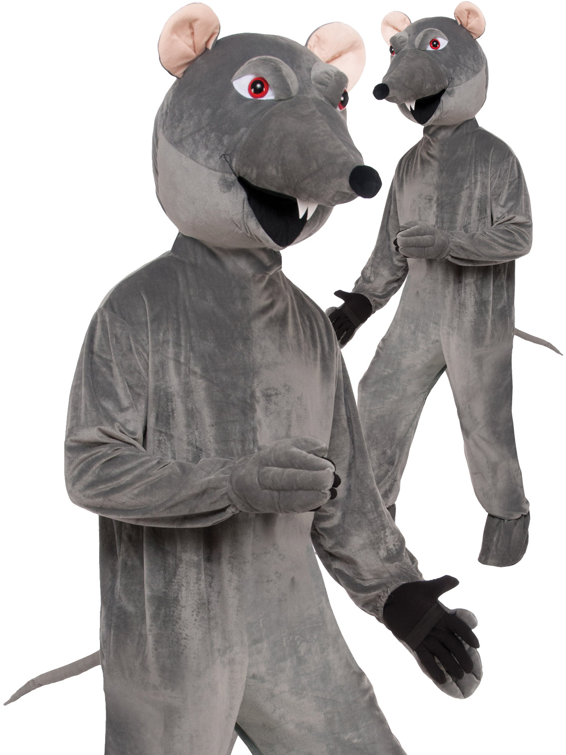 Adult deluxe rat big head costume mens ladies animal mascot fancy transform yourself into a rat with this adults novelty animal costume perfect for a stag party solutioingenieria Choice Image