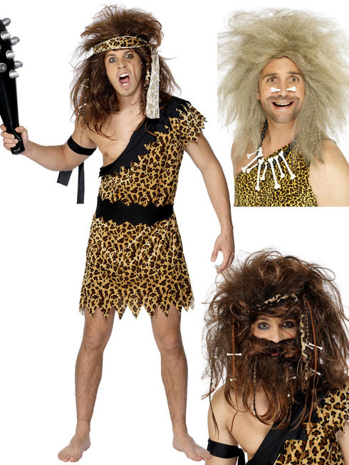 Men's Caveman Costume & Wig