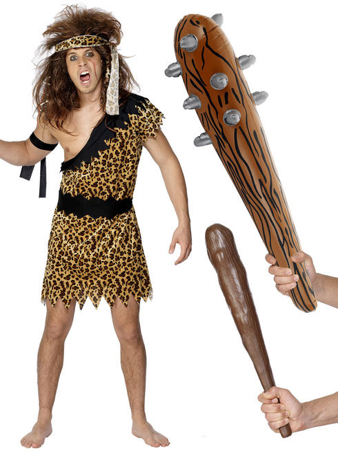Men's Caveman Costume & Club