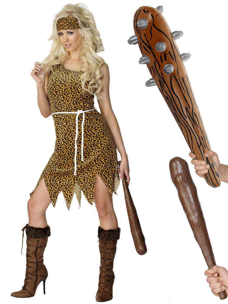 Ladies Cavewoman Costume & Club