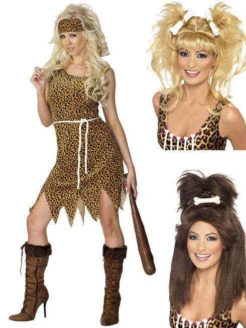 Ladies Cavewoman Costume & Wig