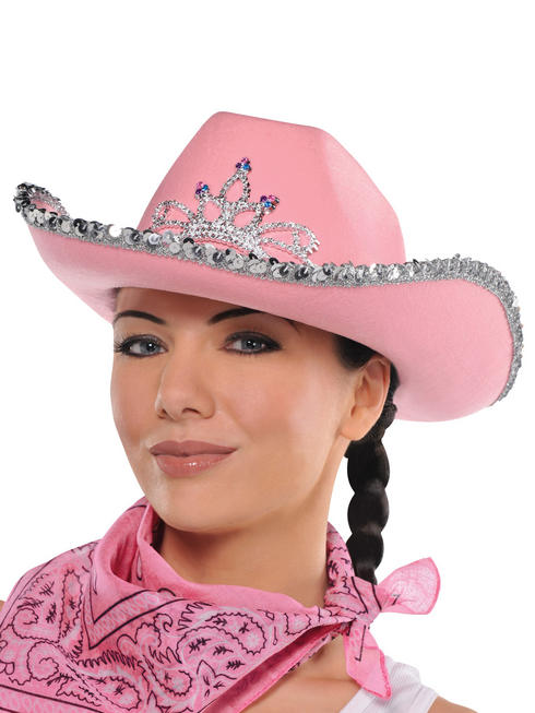 Adults Cowgirl Pink Hat
