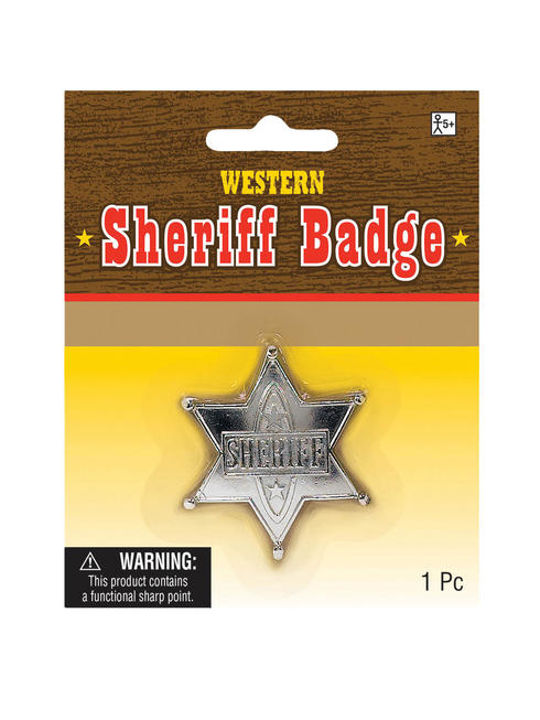 Adults Cowboy Sheriff Badge