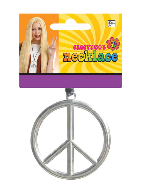 Adults 60s Hippie Peace Medallion