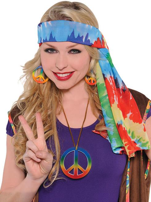 Adults 60s Hippie Headscarf