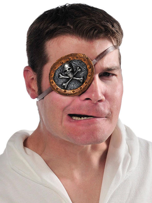 Adults Pirate Skull Eye Patch