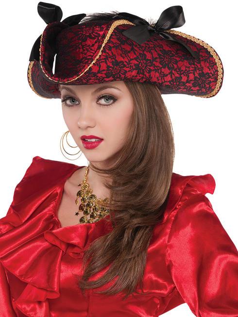 Adults Pirate Lace Hat