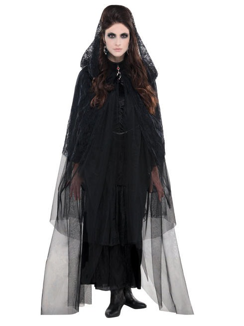 Ladies Gothic Lace Cape