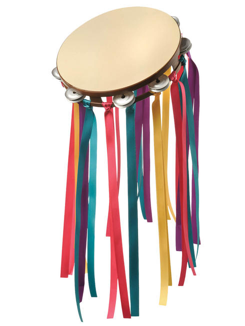 Adults 60s Hippie Tambourine