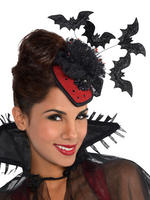 Ladies Clip on Couture Vampire Hat