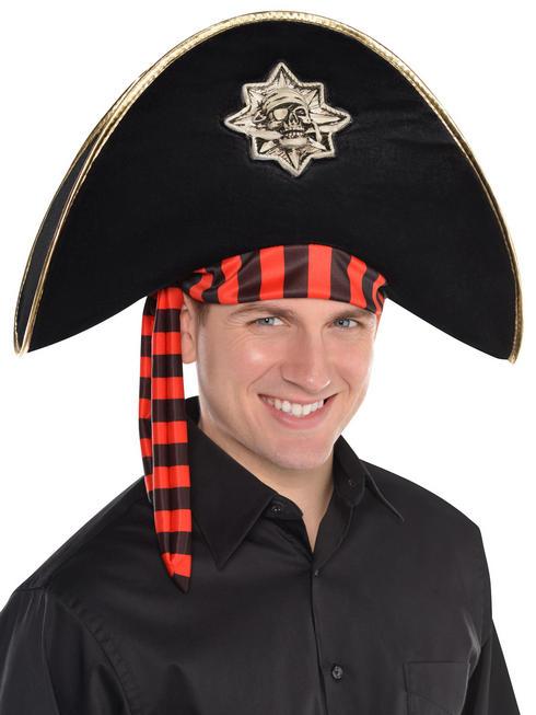 Adults Pirate Skull & Crossbones Hat