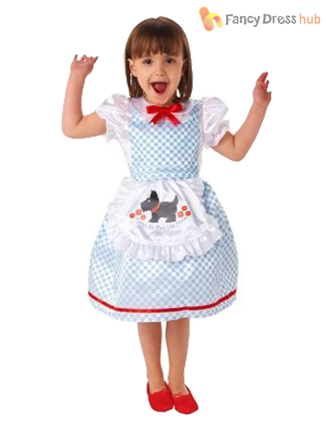 Girls-Dorothy-Costume-Childs-Oz-Fairytale-Fancy-Dress-  sc 1 st  eBay & Girls Dorothy Costume Childs Oz Fairytale Fancy Dress World Book Day ...