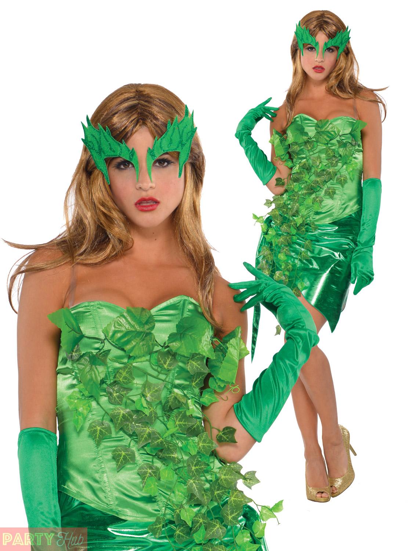 ladies toxic ivy costume womens villain fancy dress adult halloween