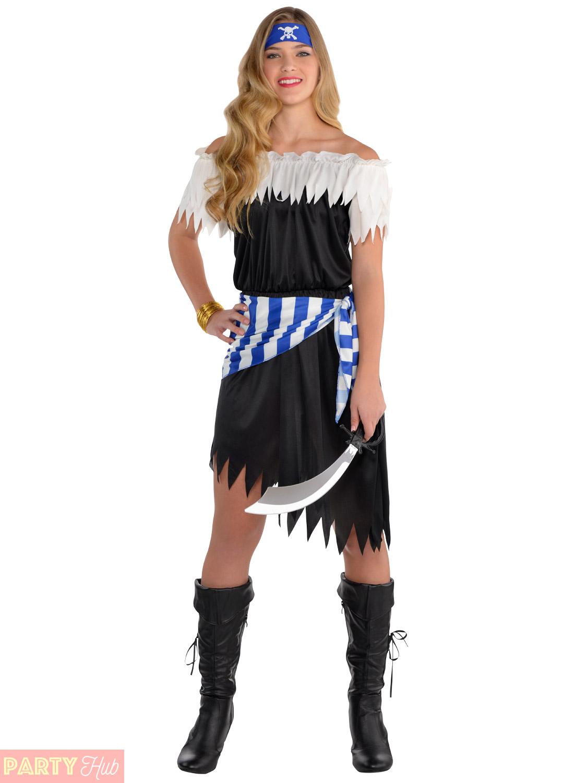 Girls-Teen-Pirate-Costume-Childs-Caribbean-Captain-Halloween-  sc 1 st  eBay & Girls Teen Pirate Costume Childs Caribbean Captain Halloween Fancy ...