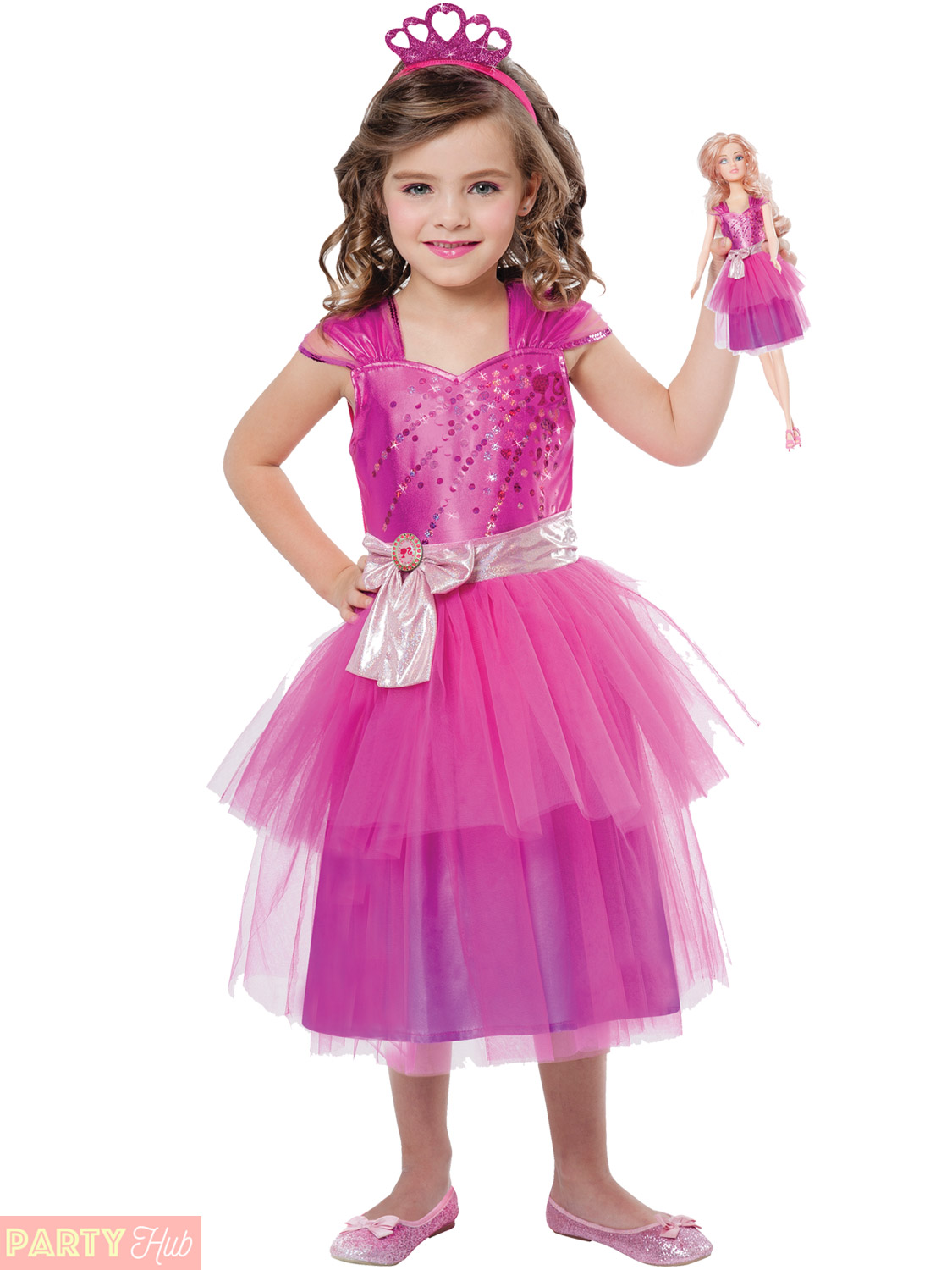 Barbie In Pink Dress And Ballet Shoes