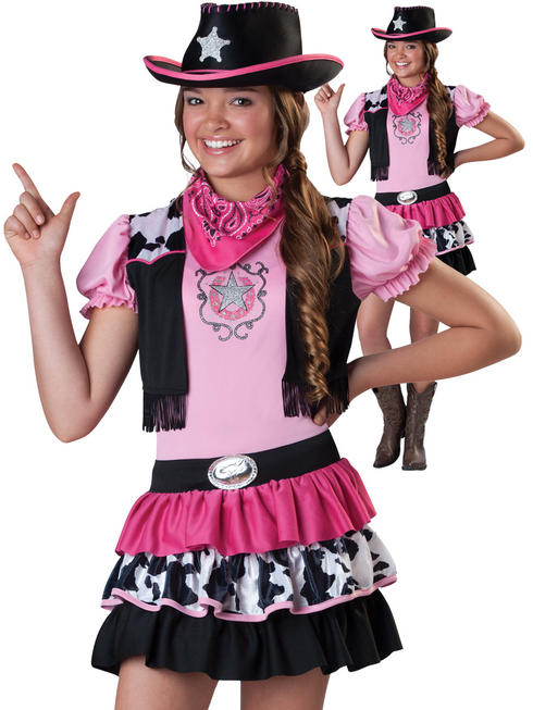 Girl's Giddy Up Cowgirl Costume