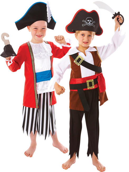 Boy's Captain Pirate Costume