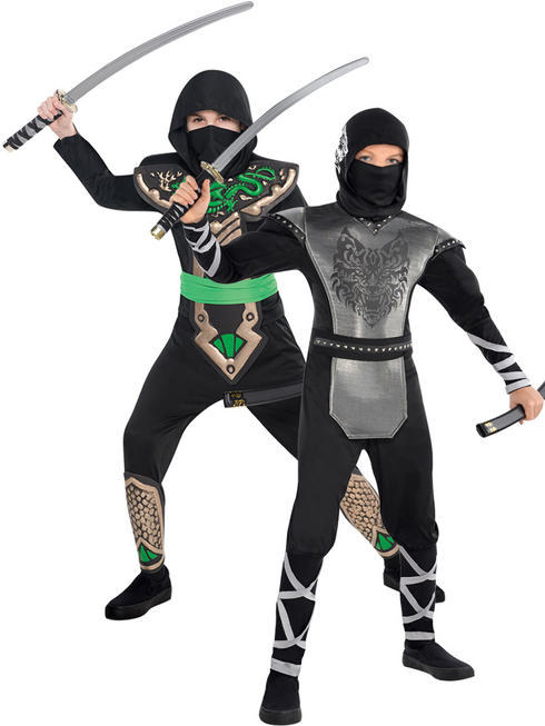 Boy's Dragon / Howling Wolf Ninja Costume