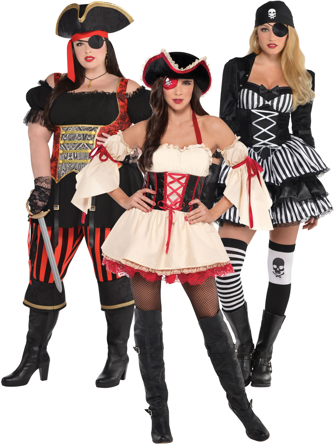 Ladies pirate costume adults captain buccaneer fancy dress halloween transform yourself into a pirate of the seven seas with these fantastic ladies pirate outfits ideal for a themed party solutioingenieria Images